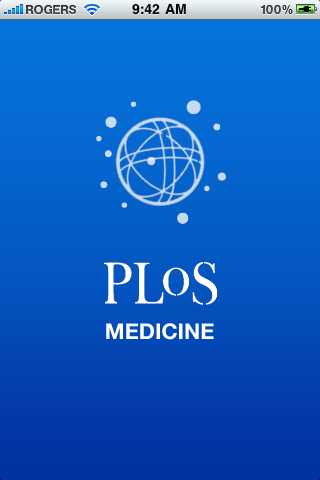 PLoS Medicine Home Screen