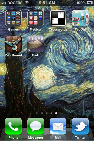 iPhone app screen