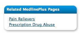 Related MedlinePlus pages