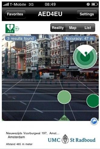 AED location app