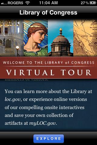 virtual tour home screen