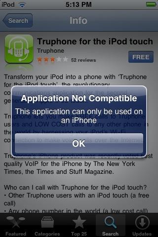 I phone error message