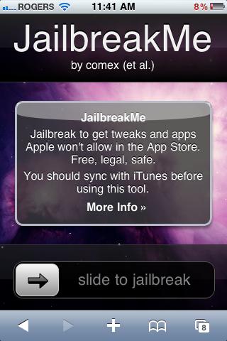 Screen shot of jail break me dot com